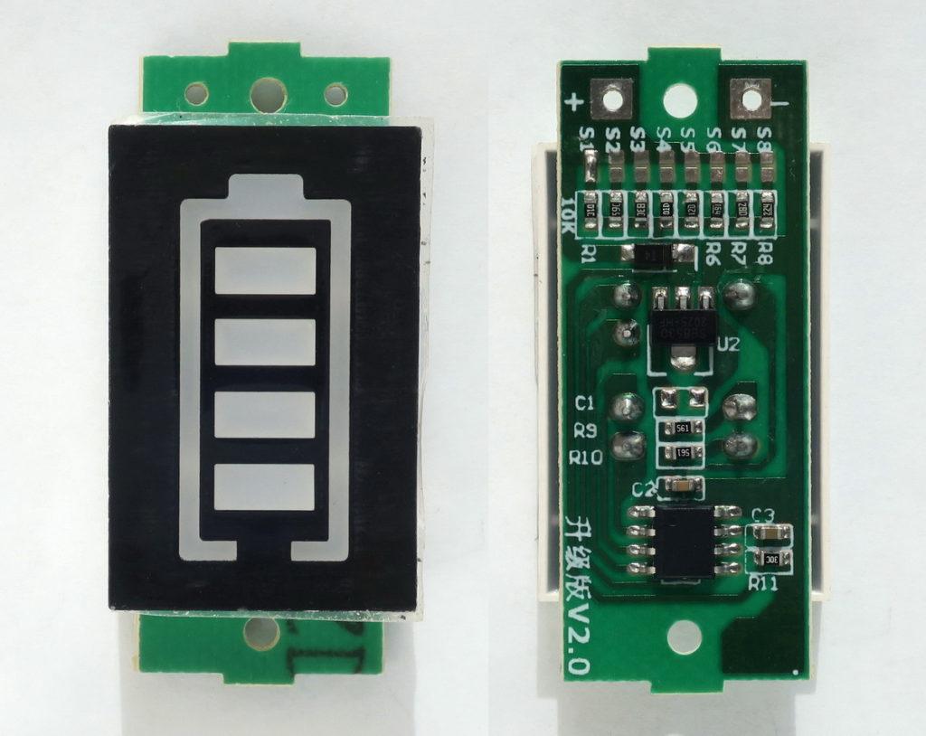 индикатор заряда из 4-х светодиодов