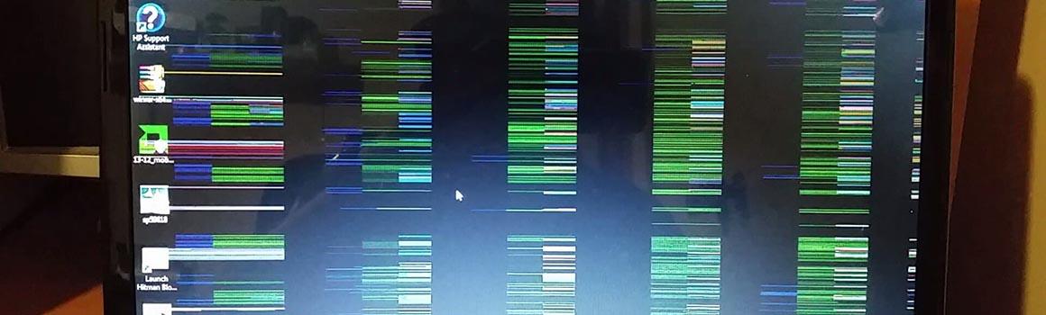 Рябь и полосы на экране компьютера